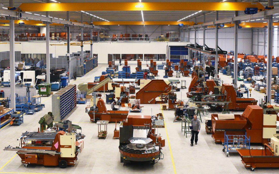 Overzicht van de fabriek van Nobels Group in Noordwijkerhout